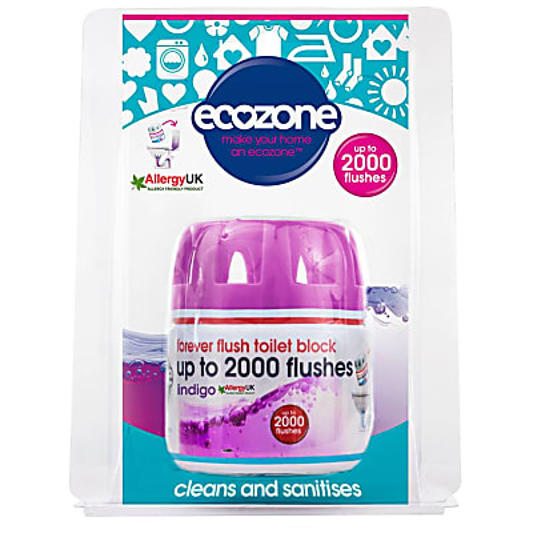 Ecozone Forever Flush Toilet Block 2000 - Indigo