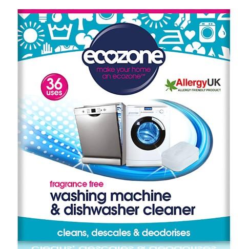 Ecozone Fragrance Free Washing Machine & Dishwasher Cleaner (36 tablets)