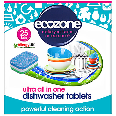 Ecozone Ultra All in One Dishwasher Tablets - 25 tabs