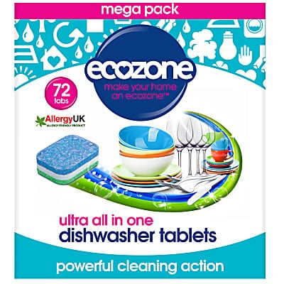 Ecozone Ultra All in One Dishwasher Tablets  - 72 tabs